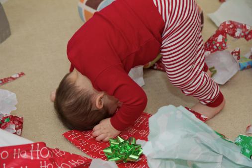 baby boy christmas morning fun