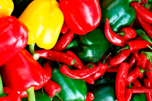 multicolor, chili, grocer, garnish, shelves, vegatable, agriculture